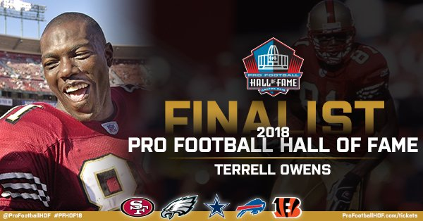 .@terrellowens has been named a #PFHOF18 Finalist!