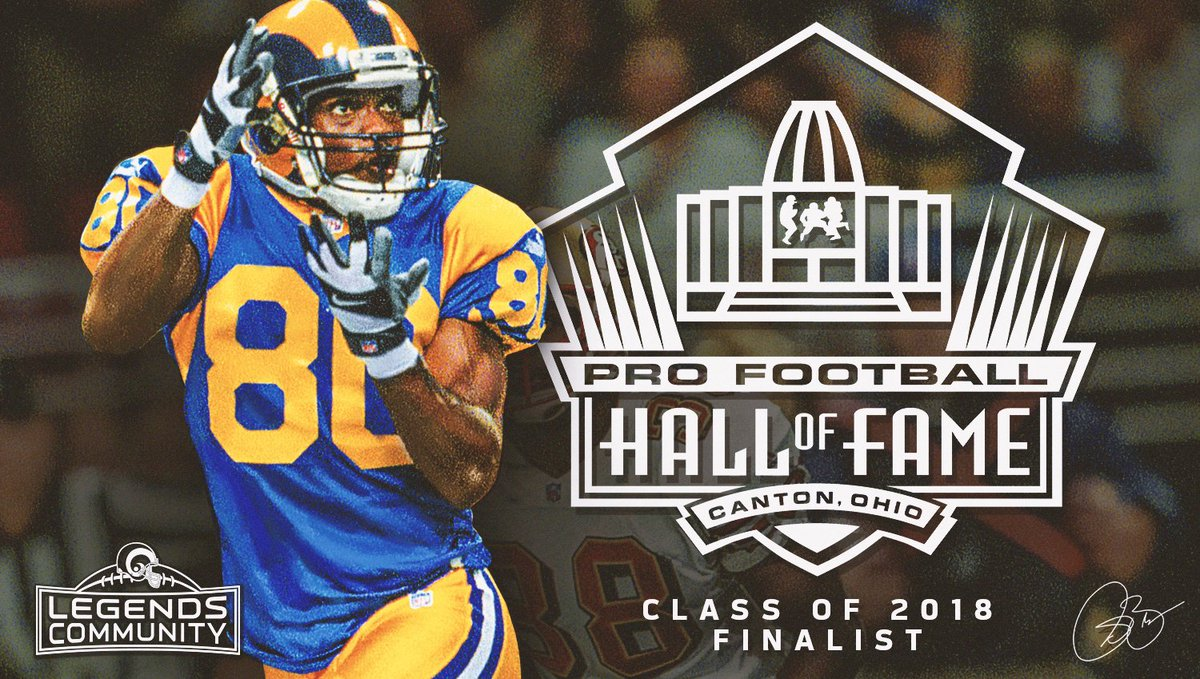 BRUUUUUUUUCE!  Congrats @IsaacBruce80 for being named a finalist for the @ProFootballHOF Class of 2018! #PFHOF18