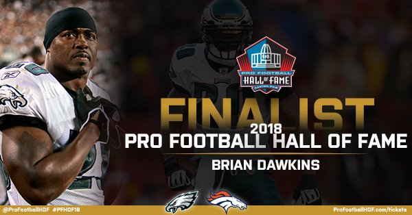 Brian Dawkins has been named a #PFHOF18 Finalist!