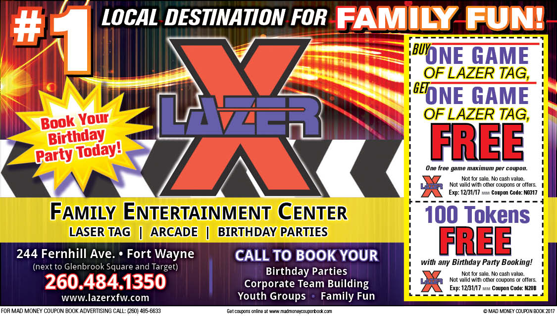 laser x coupons fort wayne