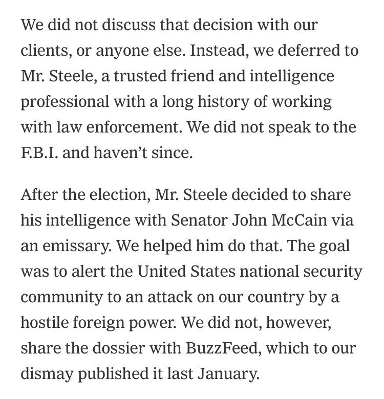 Fusion GPS takes to the @nytimes op-ed page to push back against GOP attacks against the firm — and the Trump dossier it commissioned. https://t.co/VI8V3qwldk  Company leaders say this is what it told House/Senate investigators —>