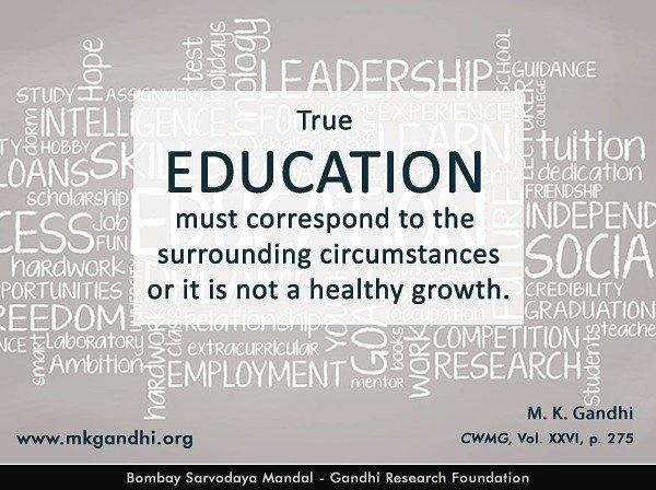 Mkgandhi On Twitter Thought For The Day Education Mahatma
