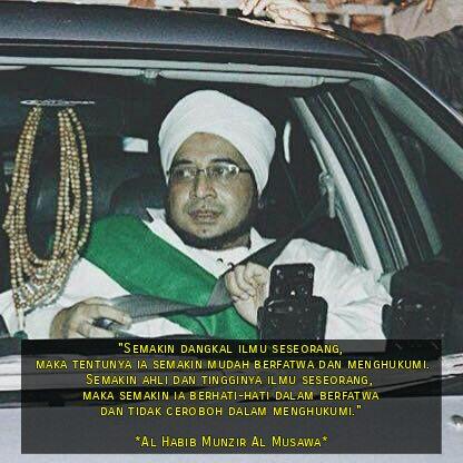 Kalam Habib Munzir Twitterren Semakin Dangkal Ilmu