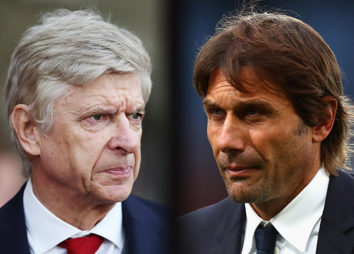 Up next in the #PL...  ⚽️ @Arsenal v @ChelseaFC  🏟 Emirates Stadium ⌚️ 1945 GMT 📲 #ARSCHE  🔴 Who wins? 🔵