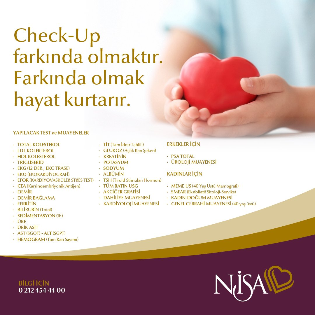 Check-up Hayat Kurtarır