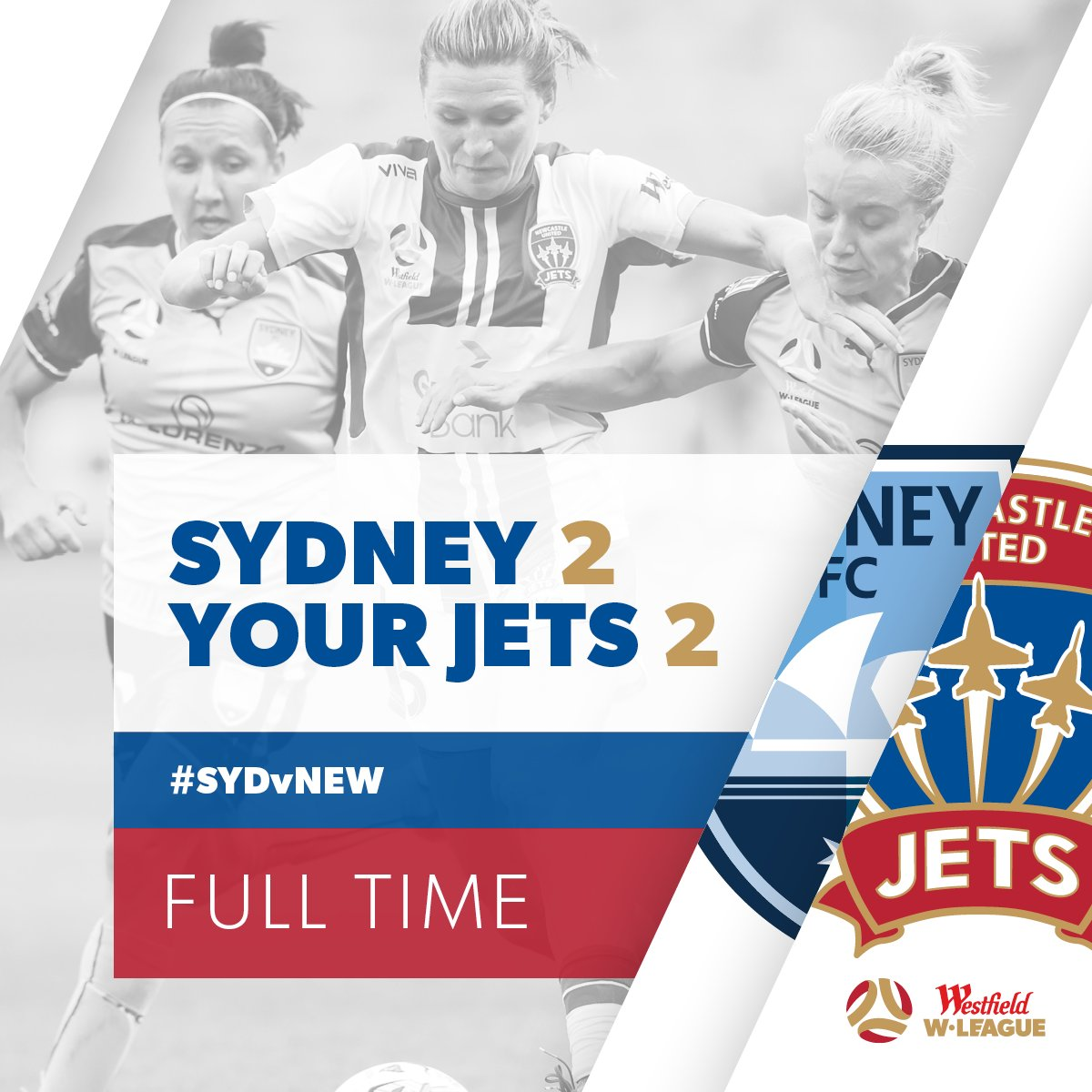 We snare a point courtesy of a Gema Simon equaliser at the death! #WLeague #SYDvNEW