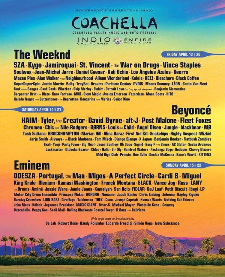 RT @Missguided: This year's Coachella lineup though 😱😱😱 https://t.co/5CXq9ShqgK