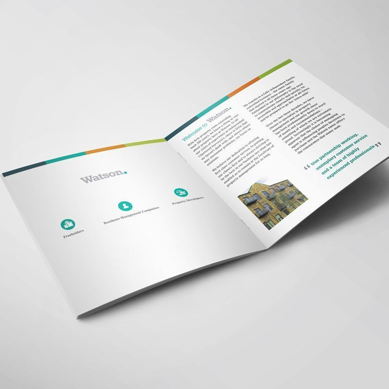 the agency creative on twitter brochure design for watson using