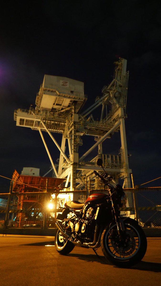 #Z900RS 夜は汚れてても目立たくて良いね