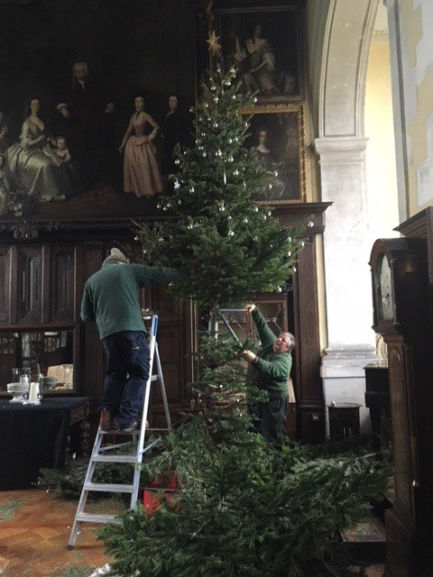 It has to be done! A bigger than average task to take down our wonderful Christmas tree in the Great Hall. Well done Phil and Martin! That's Christmas over for another year.
