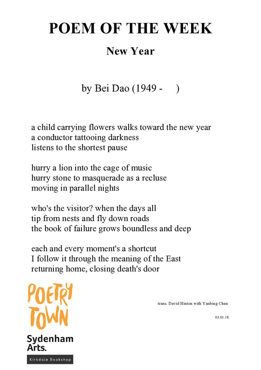 A Poetry Town On Twitter Our Poem Of The Week New Year By Bei Dao 1949 Kirkdalebooks Cherryandice27 Sydenhamhigh Browngreencafe Poems Poetry Newyear Sydarts18 Sydenham Se26 Propertyworld26 Https T Co C2cskg29le A row with the girlfriend, acute loneliness followed by being mostly drunk with a very slight chance of. bei dao 1949 kirkdalebooks