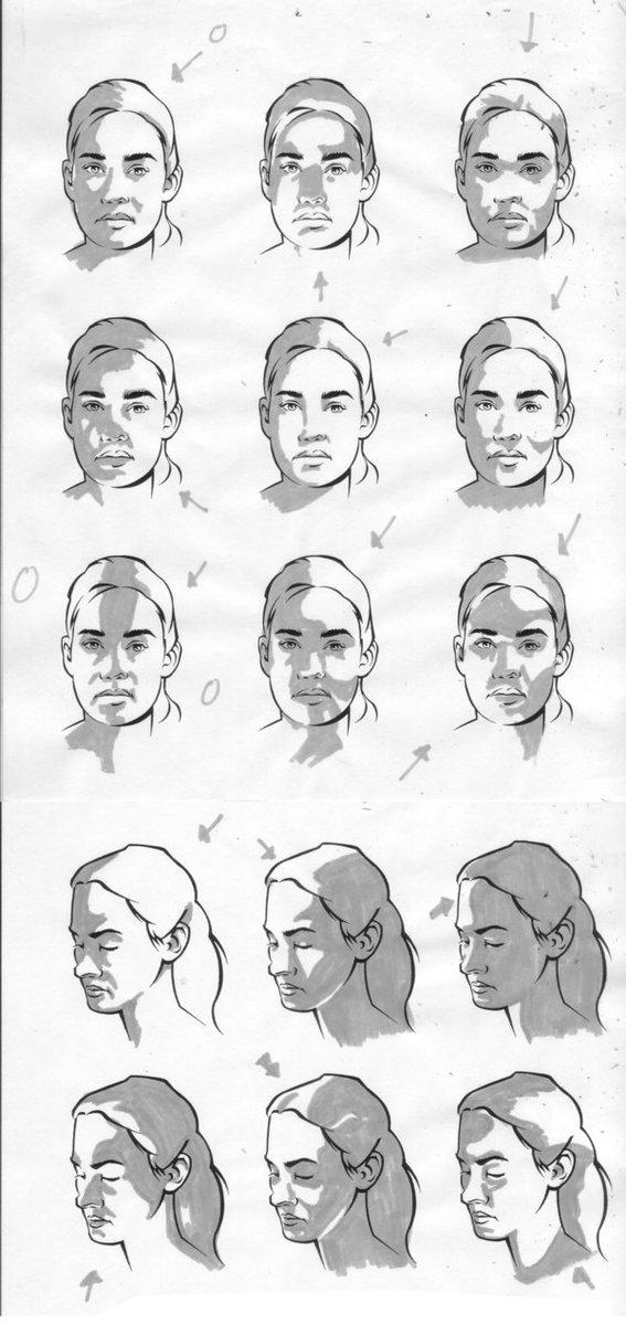 RT @Arting_2D: 얼굴의 빛/명암/그림자 #얼굴 #빛 #튜토리얼 #자료 #아트인지 #Face #Light #Shadow #Tutorial #Reference #ArtInG https://t.co/lPzV9HSQCO