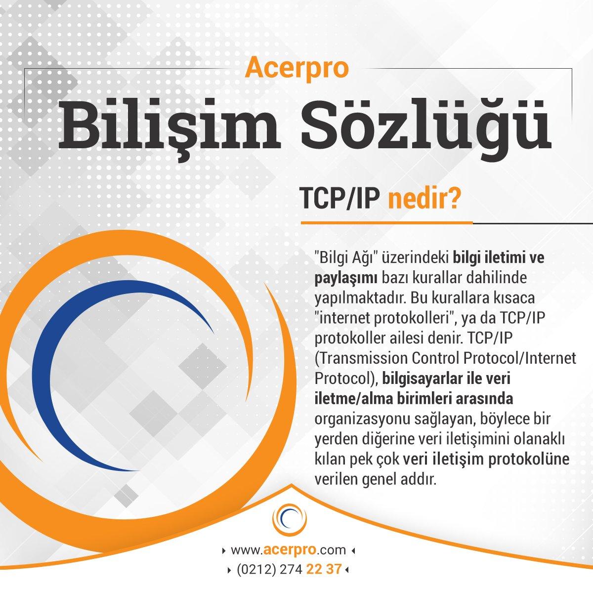 Acerpro On Twitter Bilişimsözlüğü Tcpip Nedir Httpstco