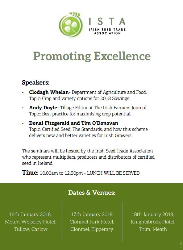 Seed Technology Ltd On Twitter 16 18 Jan Ista Will Host Three