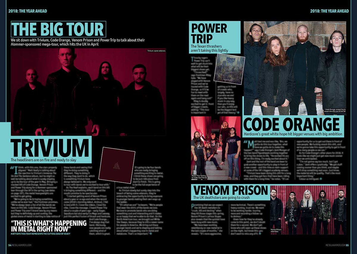We Also Preview The Massive, Hammer Sponsored @TriviumOfficial Tour Coming  Your Way This April U2013 Featuring @CodeOrangeKids, @PowerTripTX And ...