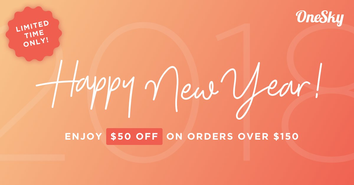 Onesky oneskyapp twitter onesky is offering a 50 coupon for translation orders over 150 until jan 31 2018 promo code newyear18 terms and conditions apply fandeluxe Choice Image