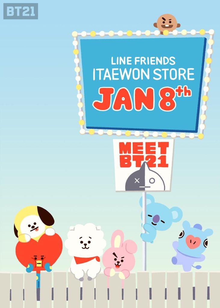 🤩 #BT21 in LINE FRIENDS Store 🗺 https://...