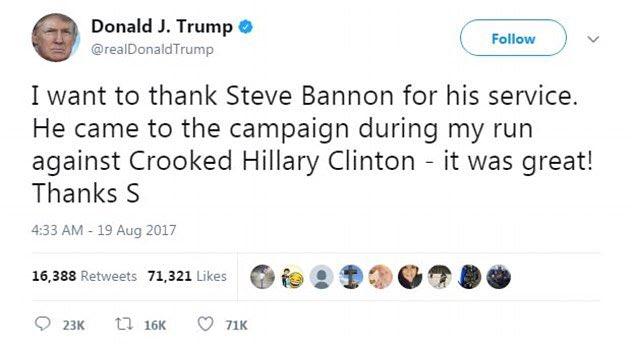 RT @Airvooocht: Steve Bannon had very little to do with his campaign. https://t.co/HDnaxXxNwx