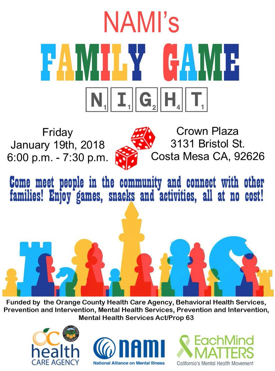 Nami Orange County On Twitter Join Us For Family Game Night All