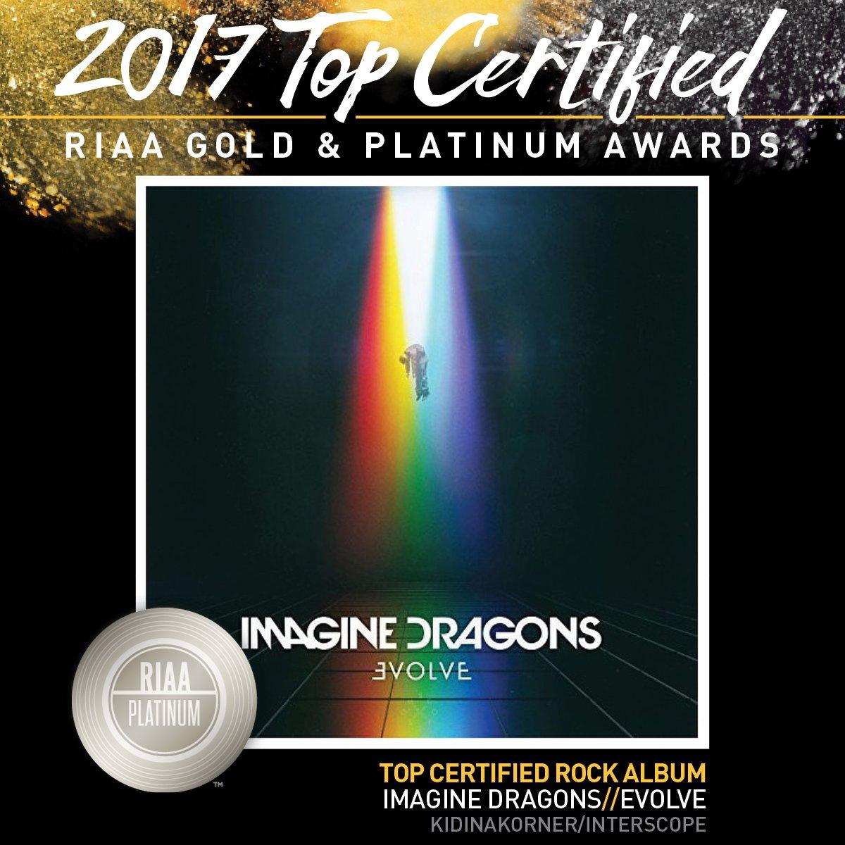#RIAATopCertified Awards 2017's #1 Rock...