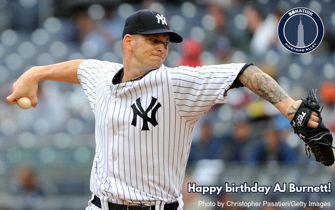 Happy Birthday to A.J. Burnett. We\ll always have Game 2 of the 2009 World Series!