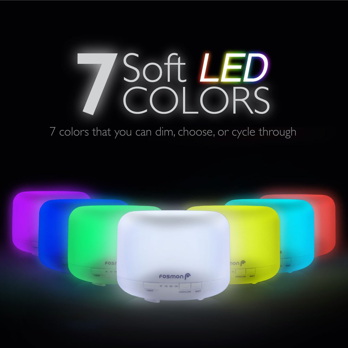Each Color Has A Bright And Dim Option Led Colors Include Natural White Purple Green Red Pink Yellow Blue Order Now For Just 21 99