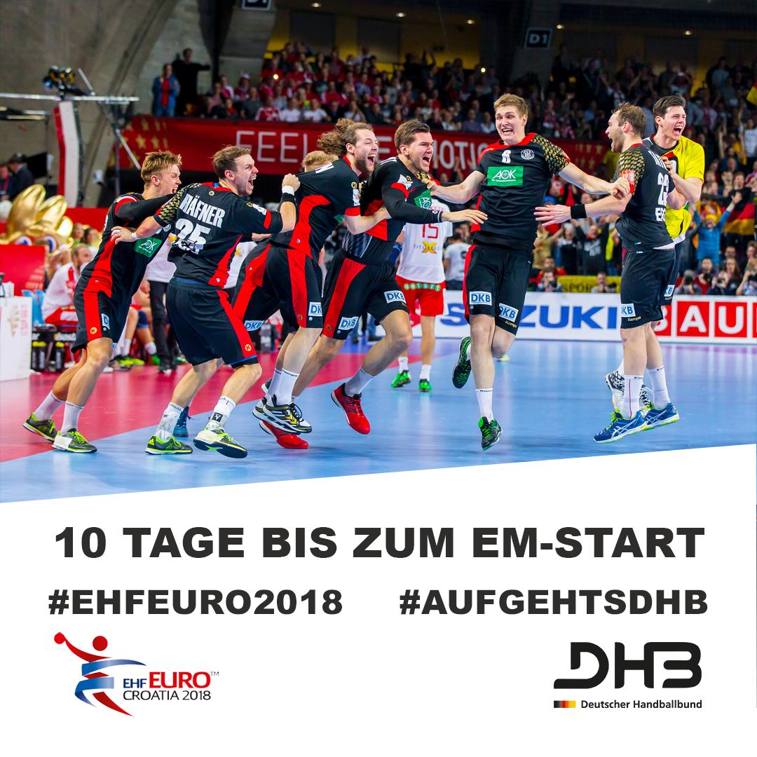 RT @DHB_Teams: Der Countdown läuft! 🙌 #aufgehtsDHB #BadBoys #ehfeuro2018 @EHFEURO @sportschau @ZDFsport https://t.co/bOudqjMxe7