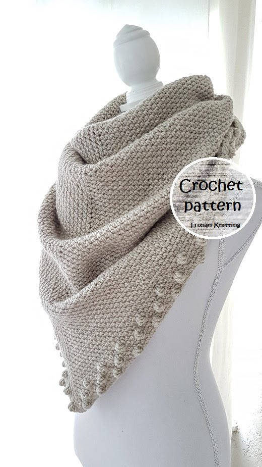 Frisian Knitting On Twitter Crochet Pattern Shawl Scarf