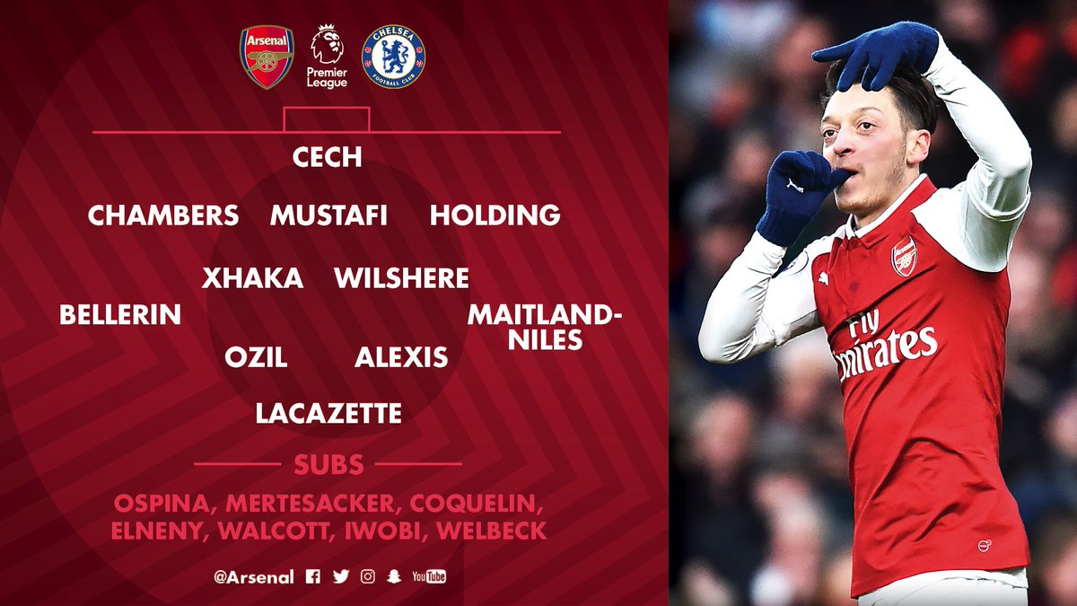 Here it is - our team to face @ChelseaFC   #AFCvCFC