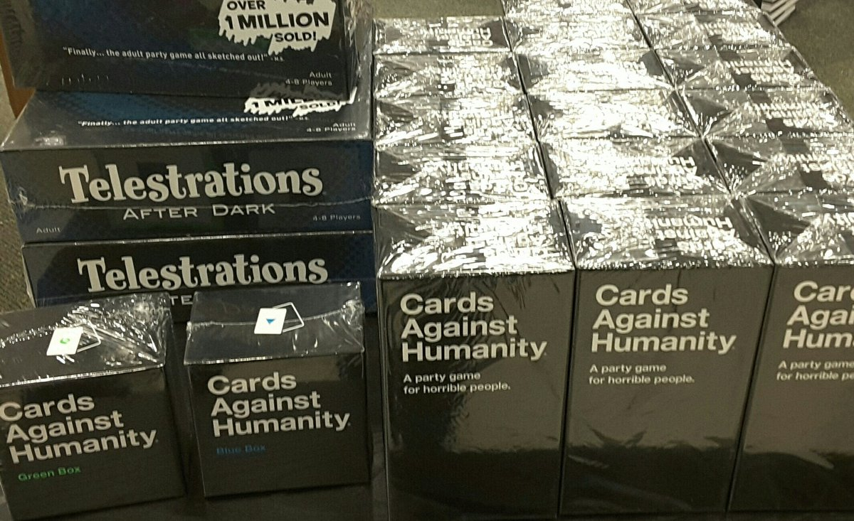 Snow coming tomorrow! Get your #cardsagainsthumanity and #Telestrations now for your #snowday #snow #CAH