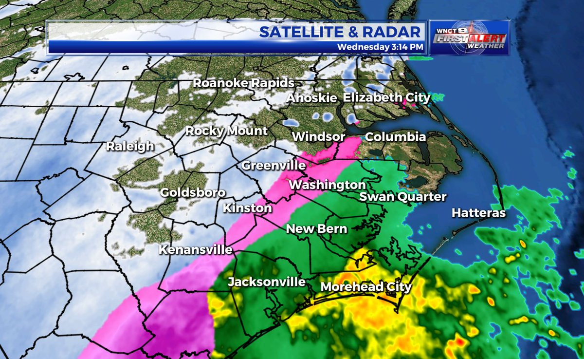 Wnct On Twitter 3 15 Pm Radar Update First Wave Of