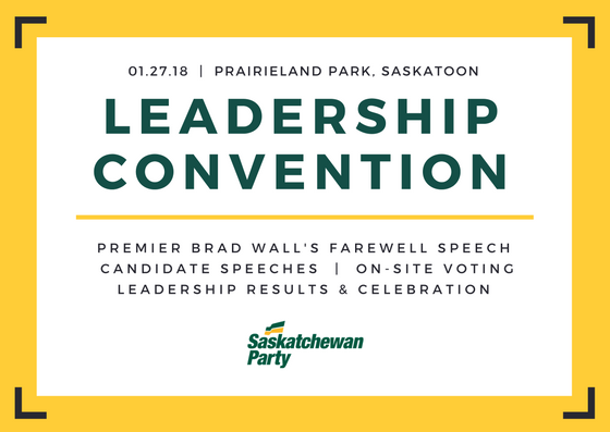 The next leader of the @SaskParty and Premier of @SKGov will be elected in just over three weeks.   Only $25 for @SaskParty members to attend. Register today >>    https://t.co/N4Wc4nAJLF#skpoli#skpldr