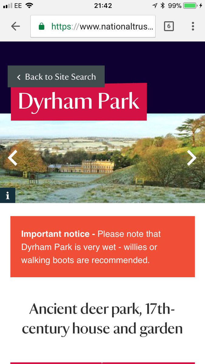 Excellent typo from the @nationaltrust . Might be a bit chilly round the ...