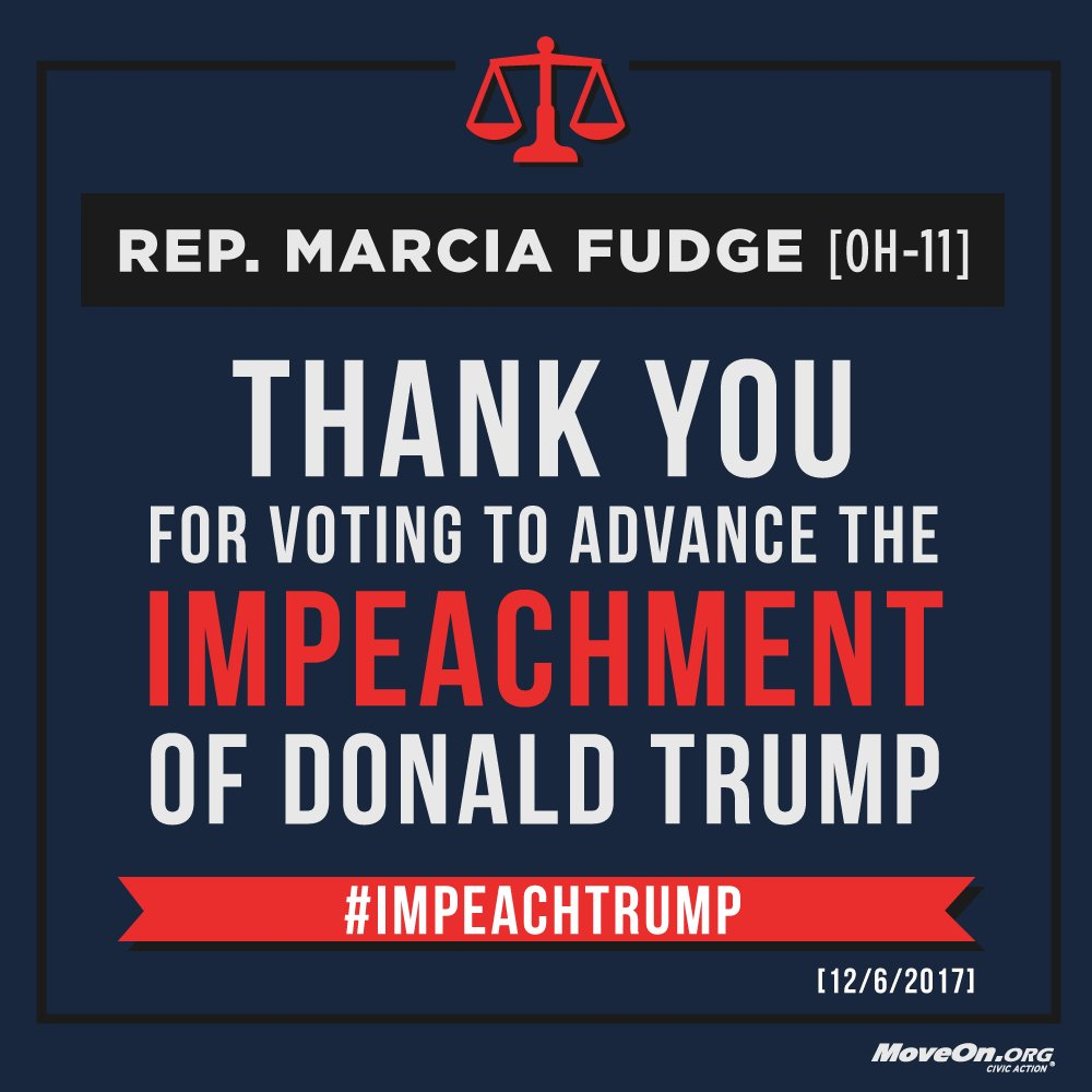 .@RepMarciaFudge, thank you for your vote to impeach @realDonaldTrump. ADD YOUR NAME & demand  wor#Congressk to  now#ImpeachTrump: https://t.co/nkS8pc7Jwf