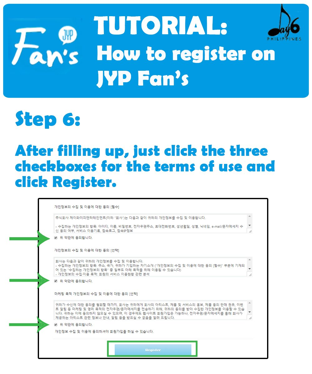 Day6 philippines on twitter tutorial how to register on jyp day6 philippines on twitter tutorial how to register on jyp fans note make sure youre details are the same with your interpark account to avoid baditri Choice Image