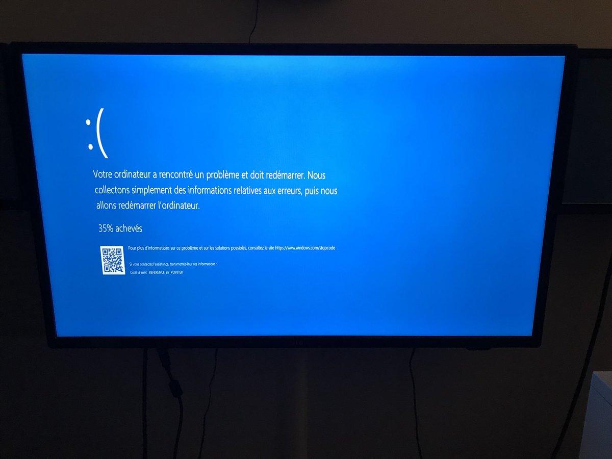 Votre ordinateur a rencontré un problème et doit redémarrer