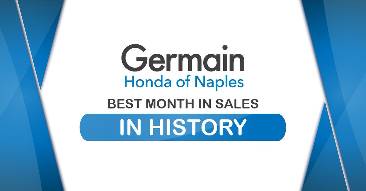 ... Sales In The History Of Germain Honda! Thank You To The Naples  Community For Your Support And Congratulations To Seref Denizeri For Being  Sales Person ...