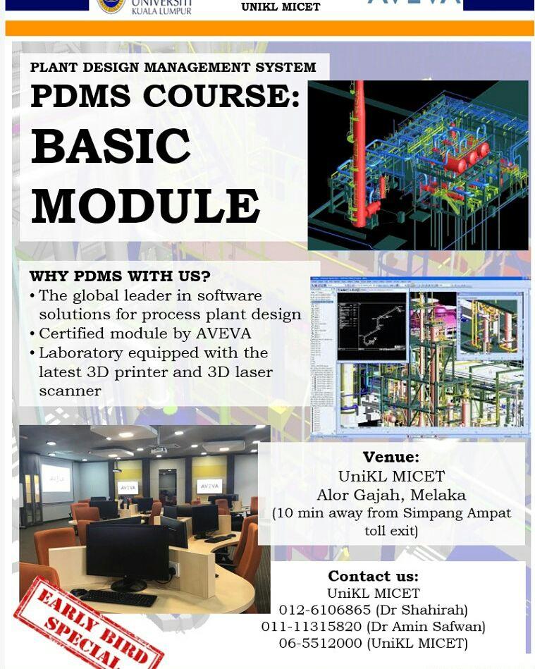 Uniklmicetofficial On Twitter Plant Design Management System Pdms Aveva Software Course Unikl Micet