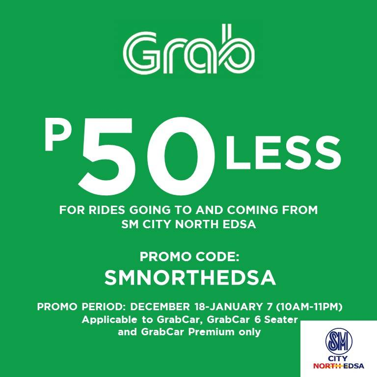 Sm Supermalls On Twitter Look Get P50 Off On Your Grab Ride To