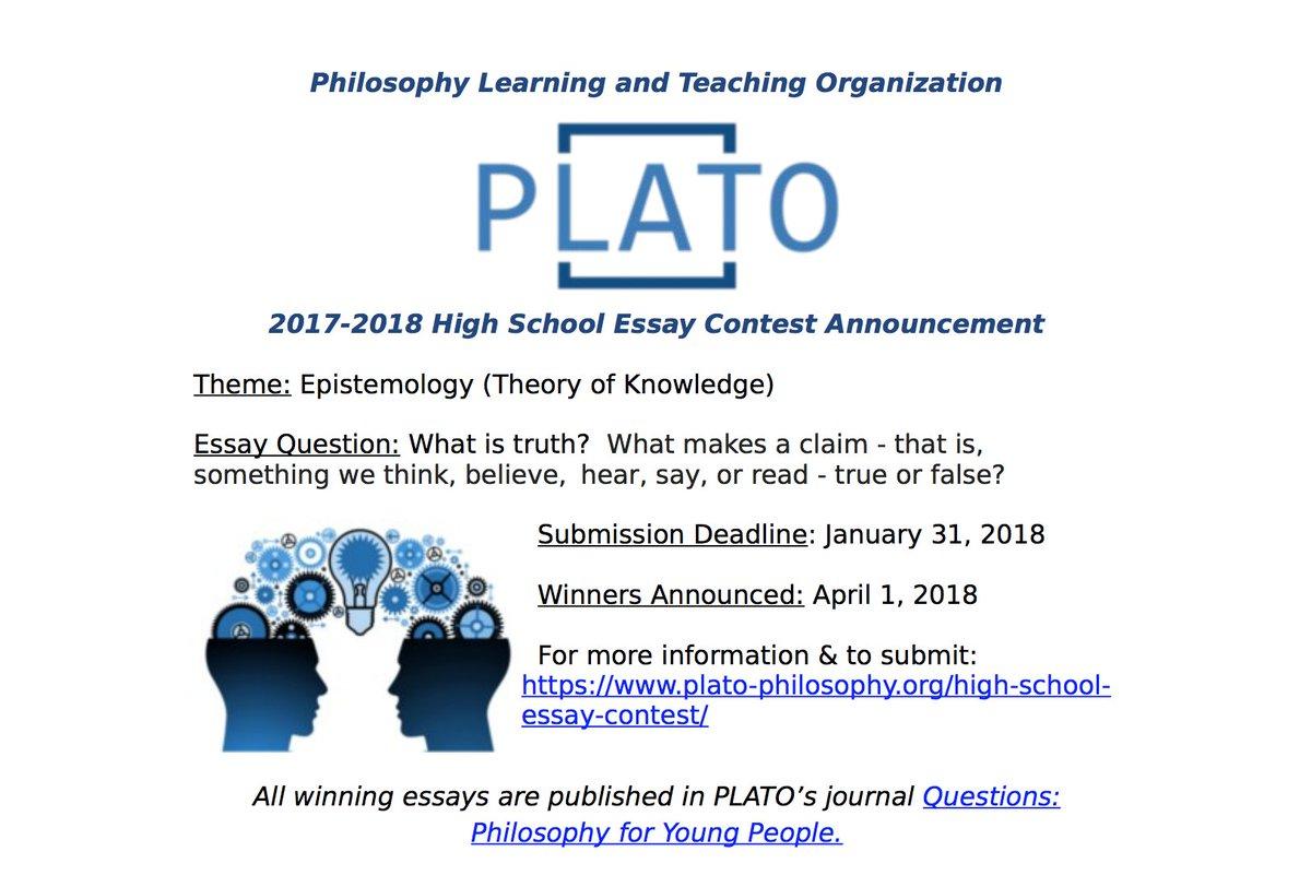 Plato On Twitter January Is Here Platos High School Essay