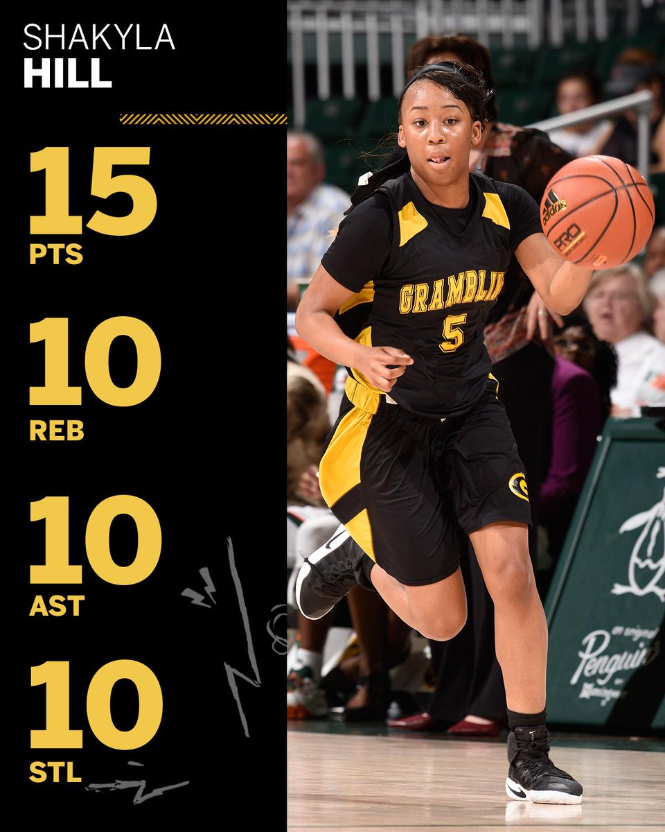 QUADRUPLE-DOUBLE for Grambling State's Shakyla Hill!  It's the first quadruple-double in women's D-1 in almost 25 years.