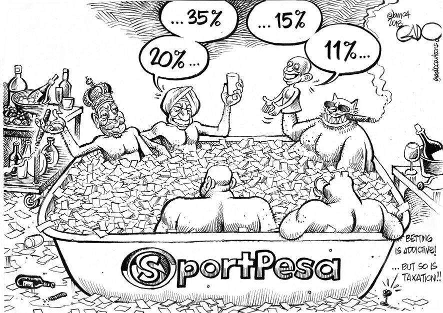 Image result for betting in kenya cartoon gado