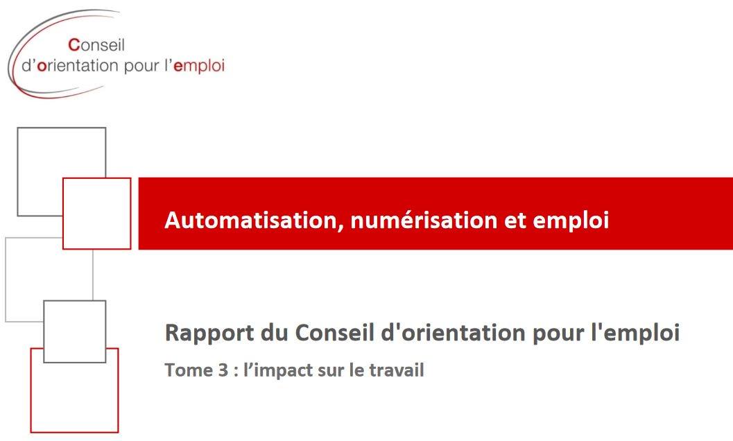 Vignette du document Automatisation, numérisation et emploi. Tome 3 : l'impact sur le travail