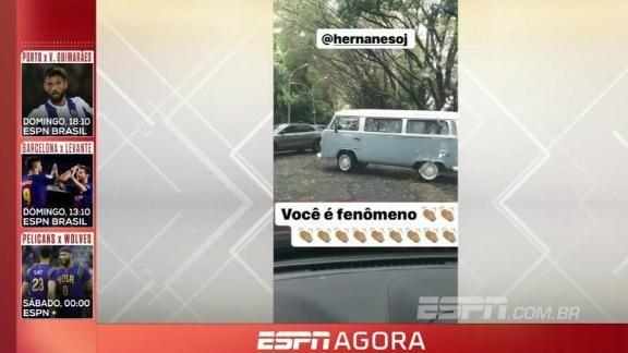Diferentão: Hernanes faz até baliza com kombi em treino do @SaoPauloFC; VEJA: https://t.co/Scd0mPj0fq