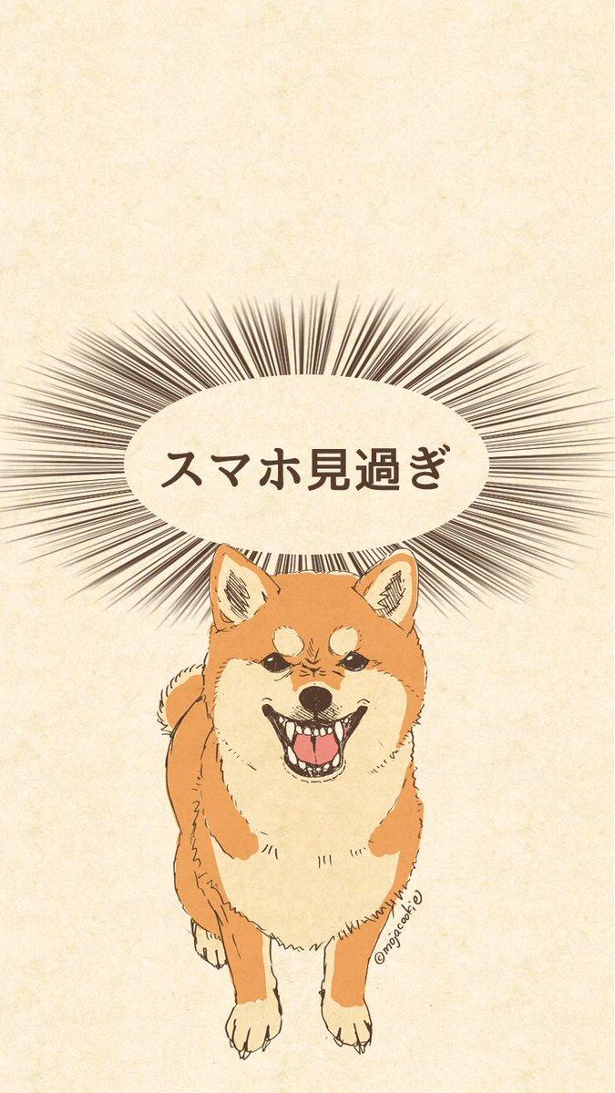 犬に叱られたい人のためのロック画面用イラスト描きました