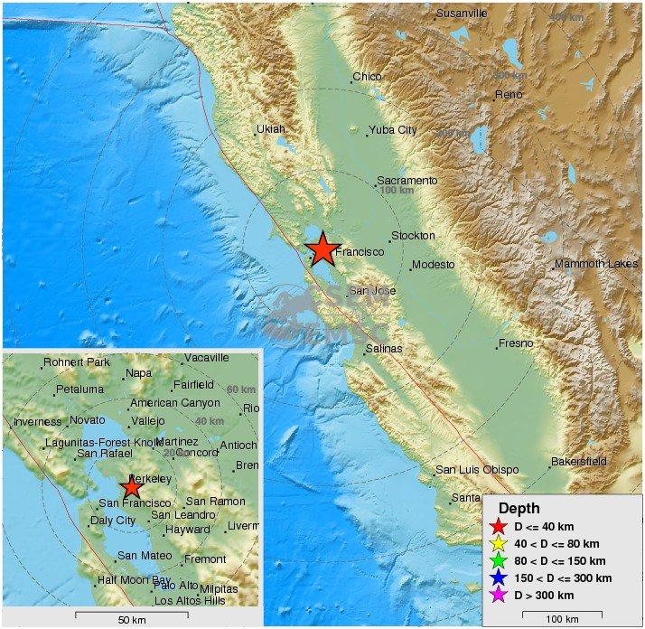 Felt #earthquake M4.7 strikes 65 km NW of San Jose (California) 4 min ago. Please report to: https://t.co/xIiPkPX5LF
