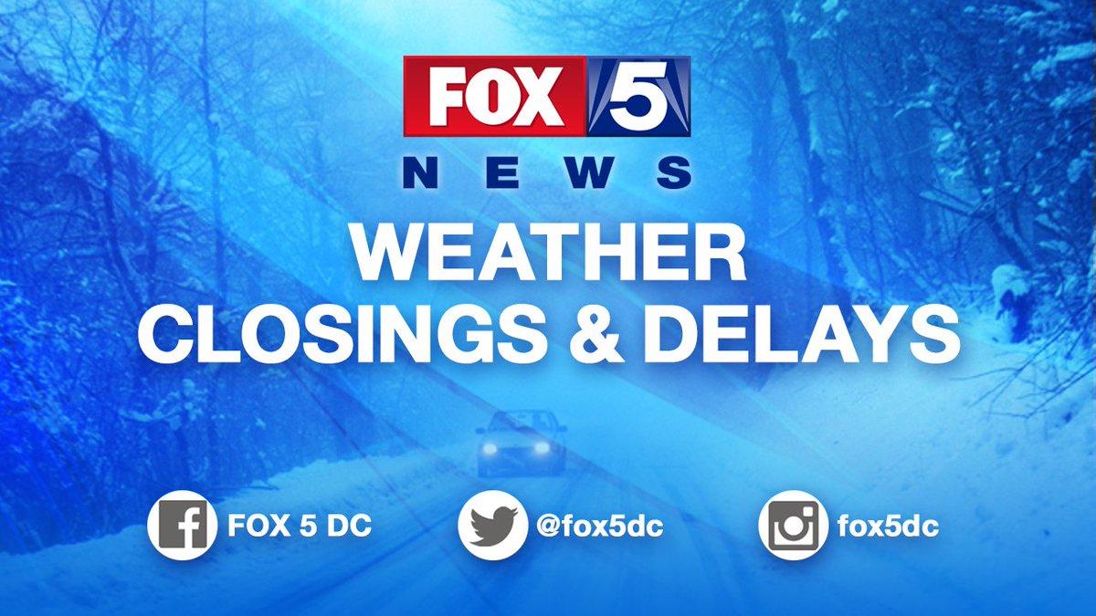 DC Public Schools CLOSED. Get FULL LIST here: https://t.co/lBhOqs7rRq #fox5weather #fox5closings