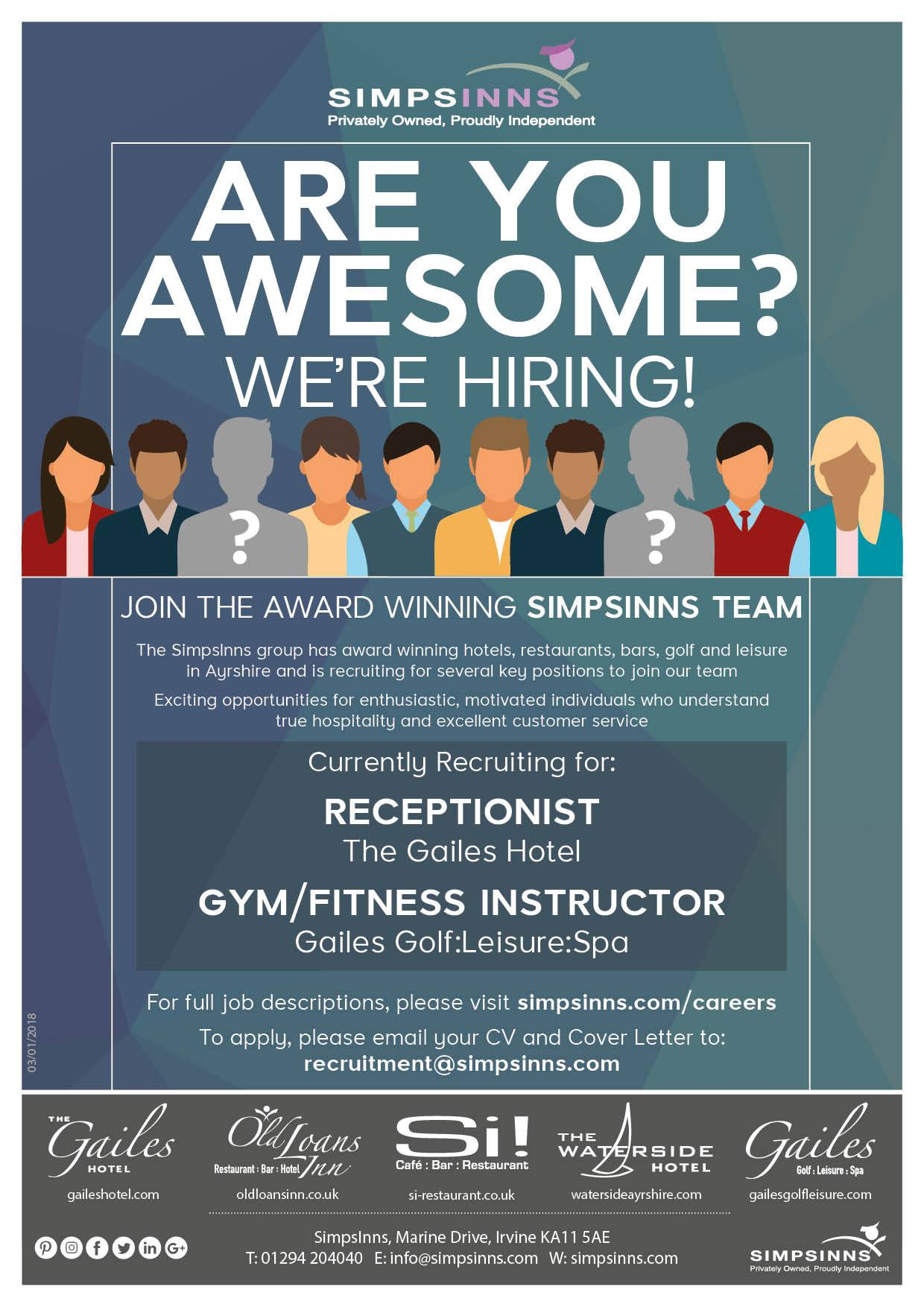 simpsinns on twitter   u0026quot are you awesome  we u0026 39 re hiring  see