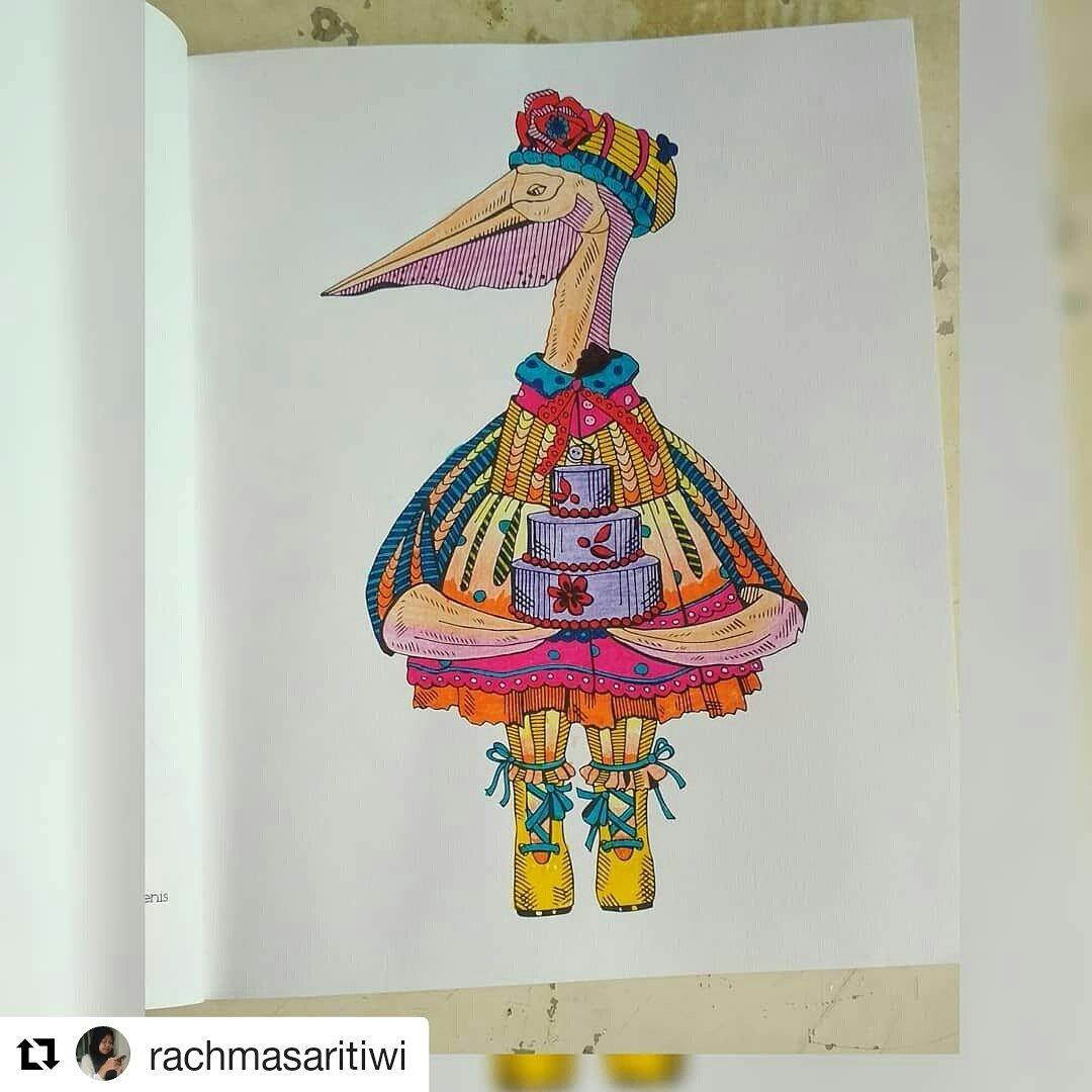 Tabrak Warna On Twitter Repost Rachmasaritiwi Flamingo Coloring