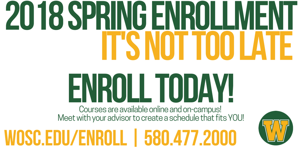 Western Oklahoma State College On Twitter Have You Enrolled For